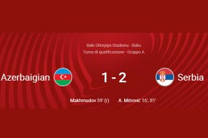 WORLD CUP QUALIFICATIONS 2022: AZERBAIJAN – SERBIA 1-2