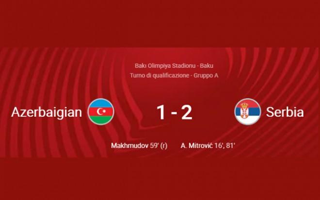 QUALIFICAZIONI MONDIALI 2022: AZERBAIJAN – SERBIA 1-2