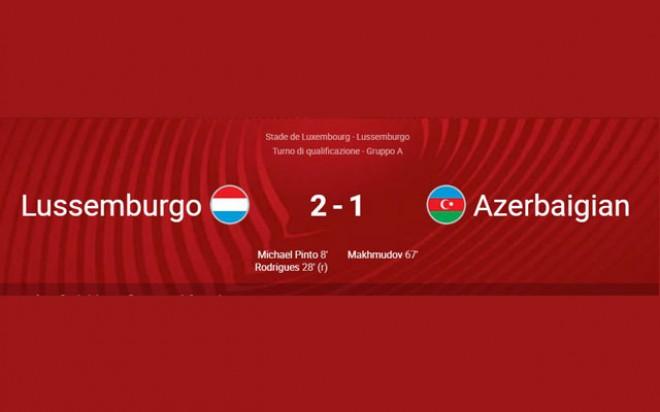 WORLD CUP QUALIFICATIONS 2022: LUXEMBURG – AZERBAIJAN 2-1