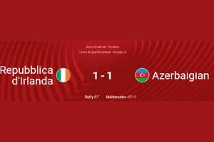 WORLD CUP QUALIFICATIONS 2022: REPUBBLIC OF IRELAND – AZERBAIJAN 1-1