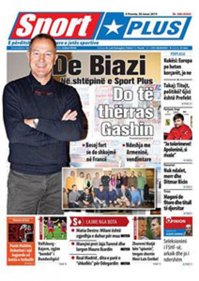 """(Albanian) Xhani De Biazi, mik në shtëpinë e """"Sport Plus"""""""